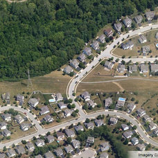 traditional site and landscape plan America's Housing Patterns from Above