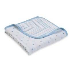 """Aden + Anais - aden by aden + anais """"Oh Boy!"""" Muslin Stroller Blanket - Whether it's a brisk walk in the park or just a stroll through a store, baby stays snug and warm with this stroller blanket. Made of two layers of cotton muslin, a soft, breathable fabric."""