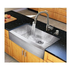 Vigo Industries - 36 in. Steel Kitchen Sink and Faucet Set - Create an inviting new look in your kitchen with a VIGO All in One Kitchen Set.
