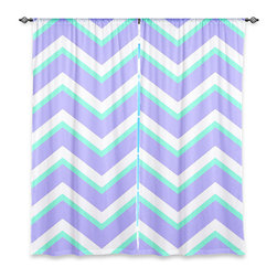 "DiaNoche Designs - Window Curtains Lined by Monika Strigel Purple Mint Layer I - Purchasing window curtains just got easier and better! Create a designer look to any of your living spaces with our decorative and unique ""Lined Window Curtains."" Perfect for the living room, dining room or bedroom, these artistic curtains are an easy and inexpensive way to add color and style when decorating your home.  This is a woven poly material that filters outside light and creates a privacy barrier.  Each package includes two easy-to-hang, 3 inch diameter pole-pocket curtain panels.  The width listed is the total measurement of the two panels.  Curtain rod sold separately. Easy care, machine wash cold, tumble dry low, iron low if needed.  Printed in the USA."