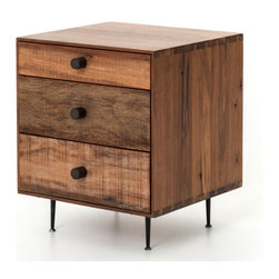 Marco Polo Imports - Parker Urban End Table - This timelessly end table, crafted by hand from sustainably harvested and reclaimed woods, juxtaposes warm patinas with rough and refined woods. This table lends a sense of history to any space, and never appears dated. The artistic use of tone ensures every one-of-a-kind piece is a focal point able to blend beautifully with others.