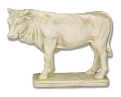 Orlandi Statuary - Prize Bull Garden Statue - F7173BULLFORNATIVITY - Shop for Statues and Sculptures from Hayneedle.com! This realistic bull is the perfect size to decorate your garden. The Prize Bull Garden Statue is designed to be a part of an outdoor nativity scene but he can also be used alone as an impressive display on your lawn. This statue features hand-carved meticulous detail evident in the rippling muscles of the powerful body and the marvelously sculpted head and neck. Cast in strong fiberglass resin designed to withstand years of seasonal wear this lightweight statue features a detail-enhancing finish.About Orlandi StatuaryBorn in 1911 when Egisto Orlandi traveled from Lucca Italy to Chicago Illinois Orlandi Statuary quickly set the standard for excellence in their industry. Egisto took great pride in his craft and reputation and which is why artists interior designers and museums relied upon the careful details and impeccable quality he demanded. Over the years they've evolved into a company supplying more than statuary. Orlandi's many collections today include fiber stone for the garden religious statuary fountains columns and pedestals. Their factory and showroom are still proudly located in Chicago where after 100 years they remain an industry icon.