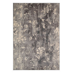 "Nourison - Nourison Utopia Floral Ivory Slate 3'6"" x 5'6"" Rug by RugLots - Indulge your fantasies with this collection of striking abstract patterns in muted grays and chromes. Make a bold statement while you add an enchanting work of art to your floors. Utopia is the perfect choice for a variety of interiors and lifestyles."