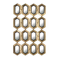 Sterling Industries - Honeycomb Mirror - Honeycomb Mirror
