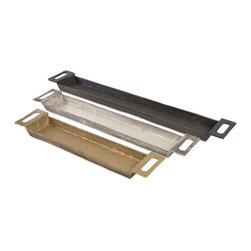 "Imax - Trio Gold Silver Black Slim Trays - Set of 3 - *Dimensions: 21.5-26.5-32.5""h x 4.75""w x 2"""