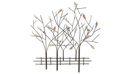 "Trees and Fence 23 1/2"" High Wall Decor - #R3233 