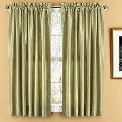 Elegant Home Fashions - Evelyn Sage Luxury Window Panels - Faux raw silk style window treatments feature all the luxury of real silk  - They are soft with a flowing natural look  - They are made from 100% polyester and are machine washable  - The set includes two fully lined window panels  - Available in lengths of 63 inches and 84 inches  - They feature a 3 inch rod pocket for easy hanging from a decorative window rod  - Also available in Beige and Chocolate  -Made in China Elegant Home Fashions - WC4510