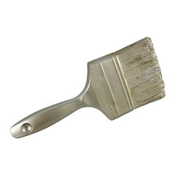 Silver Finish Paintbrush Wall Hanging Painter DIY Decor - This beautiful metallic silver finish paintbrush wall hanging makes a great conversation piece. Made of cold cast resin, it`s so realistic, people will think a paintbrush dried to your wall. Measuring 10 inches by 4 inches, and an inch deep, it makes a great gift for painters, interior decorators and do-it-yourself pros.