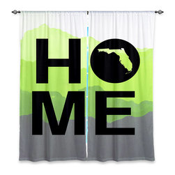 """DiaNoche Designs - Window Curtains Unlined - Jackie Phillips Home Florida Lime - Purchasing window curtains just got easier and better! Create a designer look to any of your living spaces with our decorative and unique """"Unlined Window Curtains."""" Perfect for the living room, dining room or bedroom, these artistic curtains are an easy and inexpensive way to add color and style when decorating your home.  This is a tight woven poly material that filters outside light and creates a privacy barrier.  Each package includes two easy-to-hang, 3 inch diameter pole-pocket curtain panels.  The width listed is the total measurement of the two panels.  Curtain rod sold separately. Easy care, machine wash cold, tumbles dry low, iron low if needed.  Made in USA and Imported."""