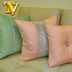 Bling Pillow, Diamante Collection - Designed by Thundersley Home Essentials