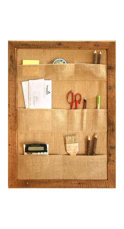 Wall Organization System, 1 - Large Pocket Bulletin Board - 1 - Large Wall Pocket Board