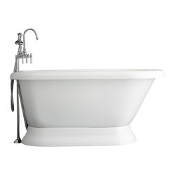 "Hotel Collection 59"" Classic Pedestal Bathtub/Faucet Package"