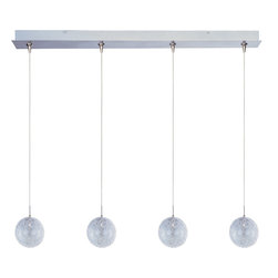 ET2 Lighting - Minx 4-Light Linear Pendant - Light show! This pendant's linear design adds a cool modern vibe to your space. It features a pleasing mix of finishes and shapes for eye-catching interest wherever it hangs.