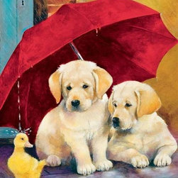 Everything's Ducky Puzzle - 60 Piece Jigsaw PuzzleA rainy day still can be a lot of fun, especially with this charming children's puzzle of puppies under an umbrella watching a cute, yellow duckling splash in the rain. Like all Springbok children's puzzles, it is designed with the developmental and creative needs of young children in mind, skills that include developing fine motor skills as well as the ability to play independently or to be able to work on a common project with others. Puzzles also help develop reasoning and logic, and sequencing skills related to reading readiness. Nothing is sweeter than a Springbok children's puzzle as it is made with the same commitment to quality you find in all our puzzles!