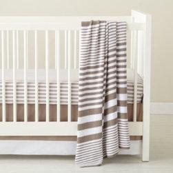 In the Mix Crib Bedding (Khaki) -