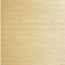 Xinmei Beige Grasscloth Wallpaper - Silky grasses entwined together  in a fine grasscloth weave adds an exotic, natural texture to walls.
