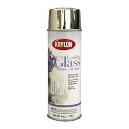 Krylon Looking Glass Mirror-like Paint - Spray paint is the budget decorator's favorite item! You can transform virtually anything with a can of spray paint. I recently created an outdoor mirror from an old window using Krylon's Looking Glass paint.