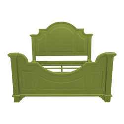 Trade Winds - New Trade Winds Queen Bed Green Painted - Product Details