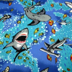 "SheetWorld - SheetWorld Fitted Crib / Toddler Sheet - Sea Life - Made in USA - This luxurious 100% cotton ""woven"" crib / toddler sheet features a bright sea life print. Our sheets are made of the highest quality fabric that's measured at a 280 tc. That means these sheets are soft and durable. Sheets are made with deep pockets and are elasticized around the entire edge which prevents it from slipping off the mattress, thereby keeping your baby safe. These sheets are so durable that they will last all through your baby's growing years. We're called SheetWorld because we produce the highest grade sheets on the market today. Size: 28 x 52."