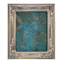 "Art Dallas Inc. - Art Dallas Antique Mirror Aqua Seaside - An Art Dallas handcrafted ""Aqua Seaside"" Antique Mirror framed with our Flash® molding."