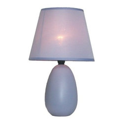 "All the Rages - All the Rages LT2009 Simple Designs 9.45"" Height 1 Light Table Lamp - Specifications:"