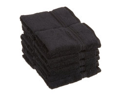 Superior Egyptian Cotton 10pc Black Face Towel Set - You can never have enough face towels!  Make sure you pick up a pack when planning to have guests or sending that student away to college. Towel Set includes: Ten Face Towels-13x13 each.