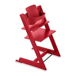 Stokke - Stokke Tripp Trapp Baby Set in Red - Tripp Trapp Baby Set? is made specifically for the Tripp Trapp from STOKKE. It's made from an environmentally-friendly plastic material that is recyclable and safe for children.