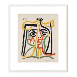T'te de femme (Head of a Woman), 1962 - Pablo Picasso, T'te de femme (Head of a Woman), 1962. Queensland Art Gallery.