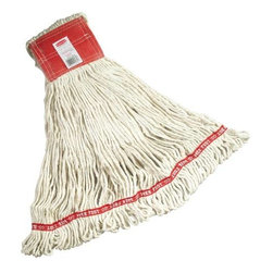 RUBBERMAID COMMERCIAL PRODUCTS - WEB FOOT WET MOP LARGE 5 IN WHITE - The unchallenged leader in launderable wet mops. Rubbermaid