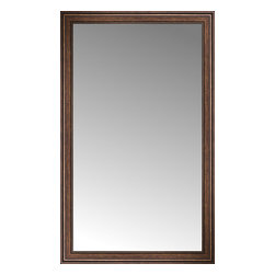"""Posters 2 Prints, LLC - 47"""" x 76"""" Arqadia Bronze Traditional Custom Framed Mirror - 47"""" x 76"""" Custom Framed Mirror made by Posters 2 Prints. Standard glass with unrivaled selection of crafted mirror frames.  Protected with category II safety backing to keep glass fragments together should the mirror be accidentally broken.  Safe arrival guaranteed.  Made in the United States of America"""