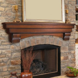 Pearl Mantels Auburn Traditional Fireplace Mantel Shelf - The Pearl Mantels Auburn Traditional Fireplace Mantel Shelf will bring traditional style to any setting with its textured layers and classic corbels. This mantel shelf features an arched base panel which will imbue any fireplace with inviting charm. Choose the 48- 60- or 72-inch length. All lengths offer 10-inch shelf depth providing ample room for display pieces and mantel clocks. This mantel shelf is crafted from solid wood for proven durability and quality. Available in your choice of Distressed Cherry-finished or unfinished options. Choose the unfinished option to customize the appearance of your fireplace with your choice of finishing varnish or paint. With the option of installing any size shelf with or without arch and corbels you can choose the look that's perfect for your space. Dimensions: 48 in. option measures: (With Corbels)-48L x 10D x 15H inches; distance between corbels is 28.5 in. ; (Without Corbels)-48L x 9.5W x 6.375 in. 60 in. option measures: (With Corbels)-60L x 10D x 15H inches; distance between corbels is 40.5 in. ; (Without Corbels)-60L x 10W x 8.625H in. 72 in. option measures: (With Corbels)-72L x 10D x 15H inches; distance between corbels is 52.5 in. ; (Without Corbels)-72L x 10W x 8.625H in. About the Pearl InlayPearl Mantels is now including a discrete authentic inlaid pearl on each of their pieces as a certificate of authenticity. During the transition your Pearl Mantel may or may not include this feature. Please contact our Customer Care Center with any questions. About Pearl Mantels Inc. Pearl Mantels Inc. believes in business based on honest value quality products and personal service - even contacting clients directly to evaluate their needs and develop leading-edge solutions. Pearl also believes mantels are the emotional core of rooms representing heritage and tradition and displaying precious heirlooms. Each Pearl mantel boasts exclusive detail and classic design all at an