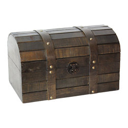 Old Style Barn Wood Trunk - This decorative treasure box is going to fill any empty place in your home or heart.