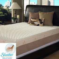 Slumber Solutions - Slumber Solutions Highloft Supreme 4-inch Memory Foam Mattress Topper - You won't have to worry about restless nights when you sleep on this 4-inch Slumber Solutions memory foam topper. Made from high-density memory foam, the mattress topper helps improve your circulation and relieves the pressure from your pressure points.