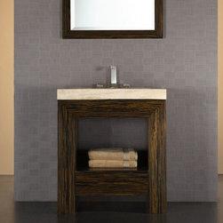 Xylem Essence Striped Ebony Bathroom Vanity - Manufacturer
