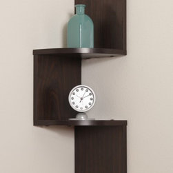 Danya B - Laminated Walnut Wood Veneer Wall Mount Decor Corner Shelf - This gorgeous Laminated Walnut Wood Veneer Wall Mount Decor Corner Shelf has the finest details and highest quality you will find anywhere! Laminated Walnut Wood Veneer Wall Mount Decor Corner Shelf is truly remarkable.