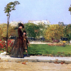 """William Merritt Chase In the Park, Paris (Dans le Parc, Paris) Print - 18"""" x 24"""" William Merritt Chase In the Park, Paris (also known as Dans le Parc, Paris) premium archival print reproduced to meet museum quality standards. Our museum quality archival prints are produced using high-precision print technology for a more accurate reproduction printed on high quality, heavyweight matte presentation paper with fade-resistant, archival inks. Our progressive business model allows us to offer works of art to you at the best wholesale pricing, significantly less than art gallery prices, affordable to all. This line of artwork is produced with extra white border space (if you choose to have it framed, for your framer to work with to frame properly or utilize a larger mat and/or frame).  We present a comprehensive collection of exceptional art reproductions byWilliam Merritt Chase."""