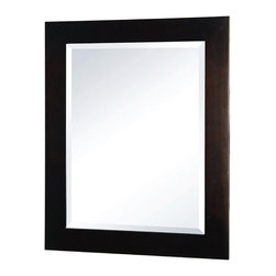 Pegasus - Madison Mirror in Espresso Finish - F10AE0021 - Manufacturer SKU: F10AE00213A. Beveled mirror. 18 in. W x 24 in. H (12 lbs.)