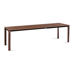 DomItalia Furniture - Universe-160 Extendable Dining Table in Walnut - The simple and clean design of this stunning Universe-160 Rectangular Dining Table in Walnut makes it a great addition to any modern house. Classic rectangular design easily pairs with any number of modern chair designs. It can seat 12 people when opened. Extensions are made of veneer, depending on the main top finish.