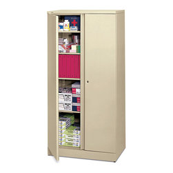 Hon - Basyx Metal Storage Cabinet - Hold the keys to your office's happiness with this large storage cabinet. With five shelves to organize everything from binders to printer paper to sticky notes, you'll be able to proudly dispense everything your workplace needs to run smoothly. Yeah, you've got that.