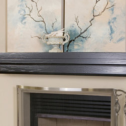 Weston Fireplace Mantel Shelf - The thick, boxy tiers of the Weston Wood Fireplace Mantel Shelf makes for a simple, gorgeous design element for the home. -Mantels Direct