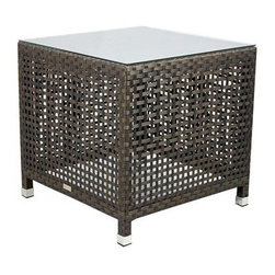 Source Outdoor Furniture - Source Outdoor Furniture Matterhorn 24 Square End Table - Since 2009 Source Outdoor has been committed to offering customers the finest in contemporary seating dining and lounging furniture for residential commercial and hospitality spaces. Source Outdoor Furniture company has rapidly expanded as they worked with retailers interior designers individual buyers and owners or operators of restaurants and hotels to design and build pieces tailored to fit any outdoor patio space. Source Outdoor are committed to anticipating voids trends and opportunities in the marketplace as they believe creativity and quality are the cornerstones of our success. In fact over half Source Outdoor Furniture products are currently manufactured in Miami by in-house skilled seamstresses and craftsmen. Not only are these products proudly made in America but Source Outdoor also have an advantage with increased year-round inventory and faster turnaround.