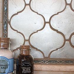 Walker Zanger Contessa Arabesco Silver Leaf - TMC tile in the 2013 BCASWI Parade of Homes #25