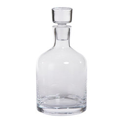 Zodax - Zodax Montecito Round Glass Decanter - Zodax - Bottles - POL660 - Montecito Round Glass Decanter