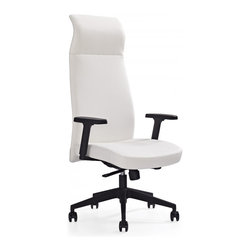 White Line Imports - Columbia Executive High Back Office Chair in Black - Features: