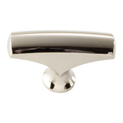 Hickory Hardware - Hickory Hardware 1-11/16 In. Greenwich Bright Nickel Cabinet Knob - Often characterized with clean, sleek lines.  Marked with solid colors, predominantly muted neutrals or bold bunches of color.  An emphasis on basic shapes and forms.