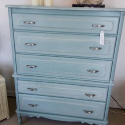 French Provincial Tall Boy Dresser -
