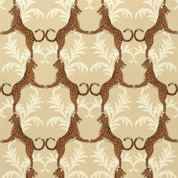 Cheetah Wallpaper - For a more muted wallpaper that creates an equally appealing vibe, try neutral colors in a bigger pattern. Now that's making a statement for fall or any other time of the year! Beautiful.