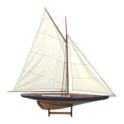 Authentic Models - Authentic Models AS050 Sail Model 1901, Blue-Green - Sail models take us back to those beach and country park outings from our youth. This classic pond yacht showcases an era when children grew up with real, hands-on objects to play with and learn from. In our day and age, they represent a bygone era and are beloved as decor in beach cabins and homes. Built plank-on-frame.