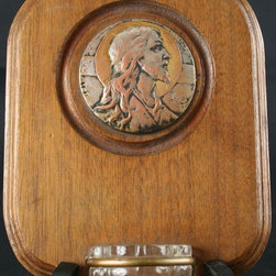 EuroLux Home - Consigned Antique French Holy Water Font Jesus Christ - Product Details