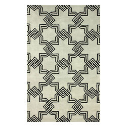 RugsUSA - Contemporary 6' x 9' Grey Hand Tufted Area Rug Trellis GD40 - Made from the finest materials in the world and with the uttermost care, our rugs are a great addition to your home.